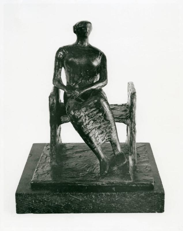 Seated Woman on Bench